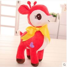 about 30cm cartoon sika deer plush toy lovely red deer soft doll baby toy birthday gift,Xmas gift c826