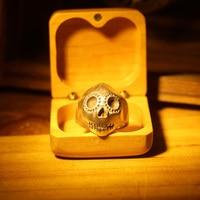 Панк кольцо с черепом для мужчин мужские винтажные готические украшения мужские стимпанк вечерние кольца Аниме Мужчины s 925 серебряных коле