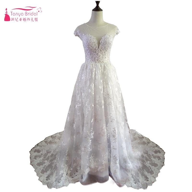 1920\'S Vintage Lace Applique Princess Wedding Dresses Custom Make ...