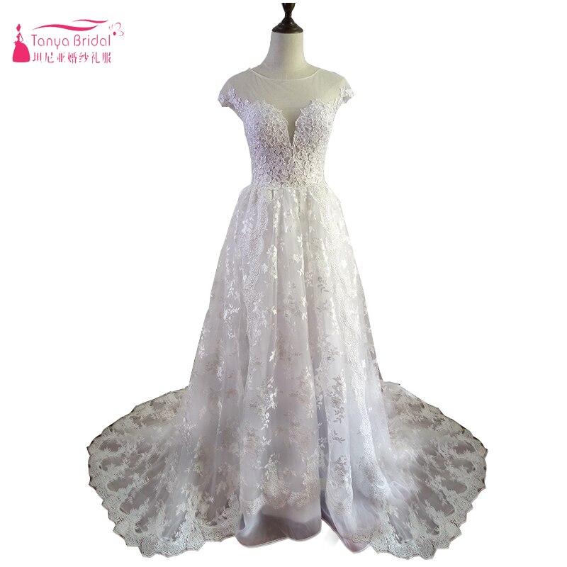 1920 Vintage dentelle appliques princesse robes de mariée personnalisé faire Champagne dubaï arabe hors épaule une ligne Vestido noiva Z1078