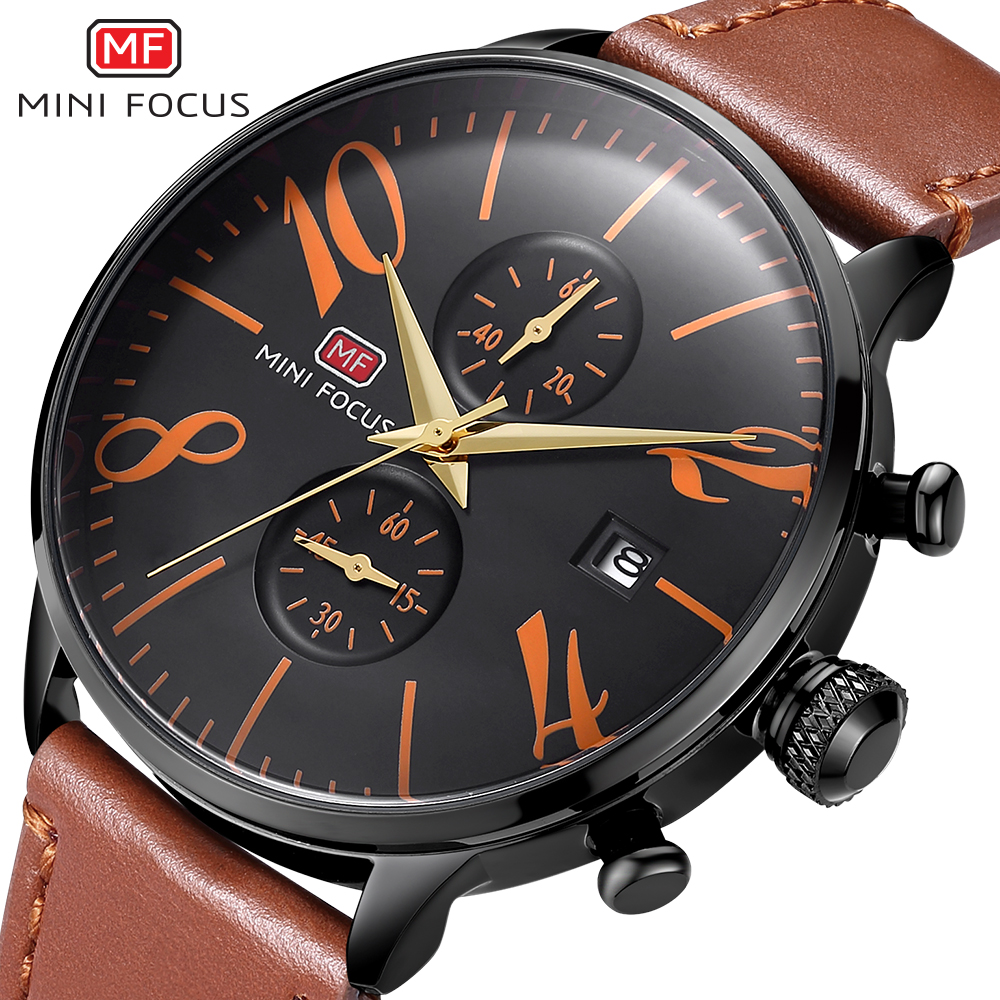 Men Watch Top Brand Luxury Male Leather Waterproof Sport Quartz Chronograph Military Wrist Watches Men Clock Relogio Masculino 2017 ochstin luxury watch men top brand military quartz wrist male leather sport watches women men s clock fashion wristwatch