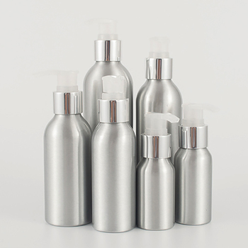 Wholesale makeup serum pump bottle 250ml aluminium makeup bottle for cosmetic packaging