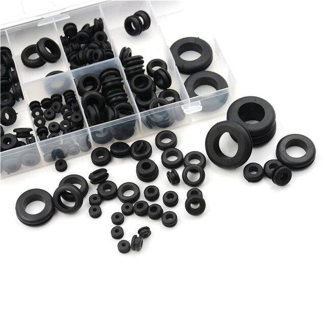 180pcs Rubber Harness Grommet Set Firewall Hole Plug Retaining Ring