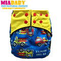 Miababy OS Charcoal Bamboo Pocket Cloth Diaper, fits baby 5-15 baby, with double leaking guards,easy to wear and wash