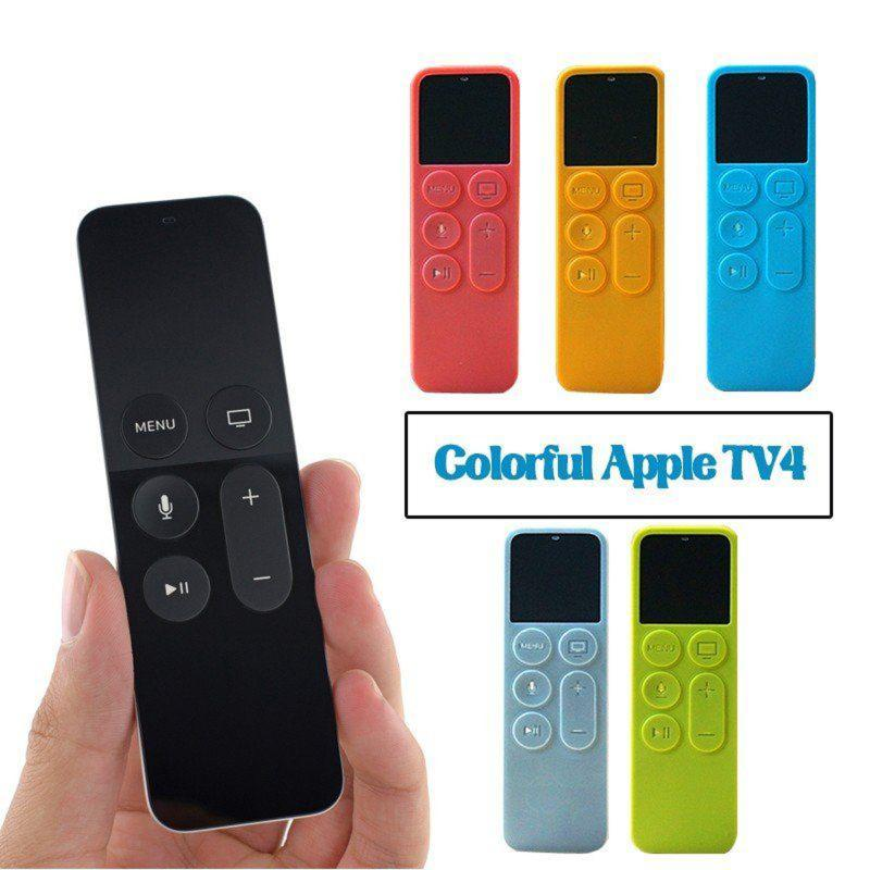 Protective Dustproof Case Silicone Cover for Apple TV 4 Remote Control Household TV Remote Control Holder Organizer ...