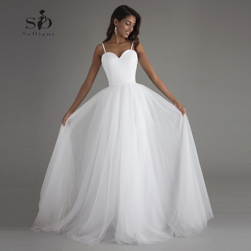 Wedding Dress Beach WhiteLvory Cheap Dresses Plus size Sweetheart A-line Hot Sale Bridal Gown Vestido De Novia Playa