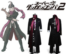 Super Danganronpa 2 Gundam Tanaka Uniform Male Coat Top Shirt Scarf Anime Halloween Game Cosplay Costumes For Men Custom Made