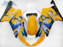 Verkleidungen für SUZUKI 2004 2005 GSXR 600 R750 motor ABS sport verkleidung kit 04 05 GSXR750 GSXR 600 K4 k5 gelb corona