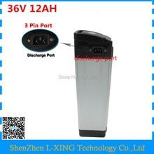 36 V 12AH литиевая батарея 36 V 11.6AH Серебряная рыба Ebike батарея с 15A BMS 42 V 2A зарядное устройство использовать для телефон panasonic верхнее нагнетание