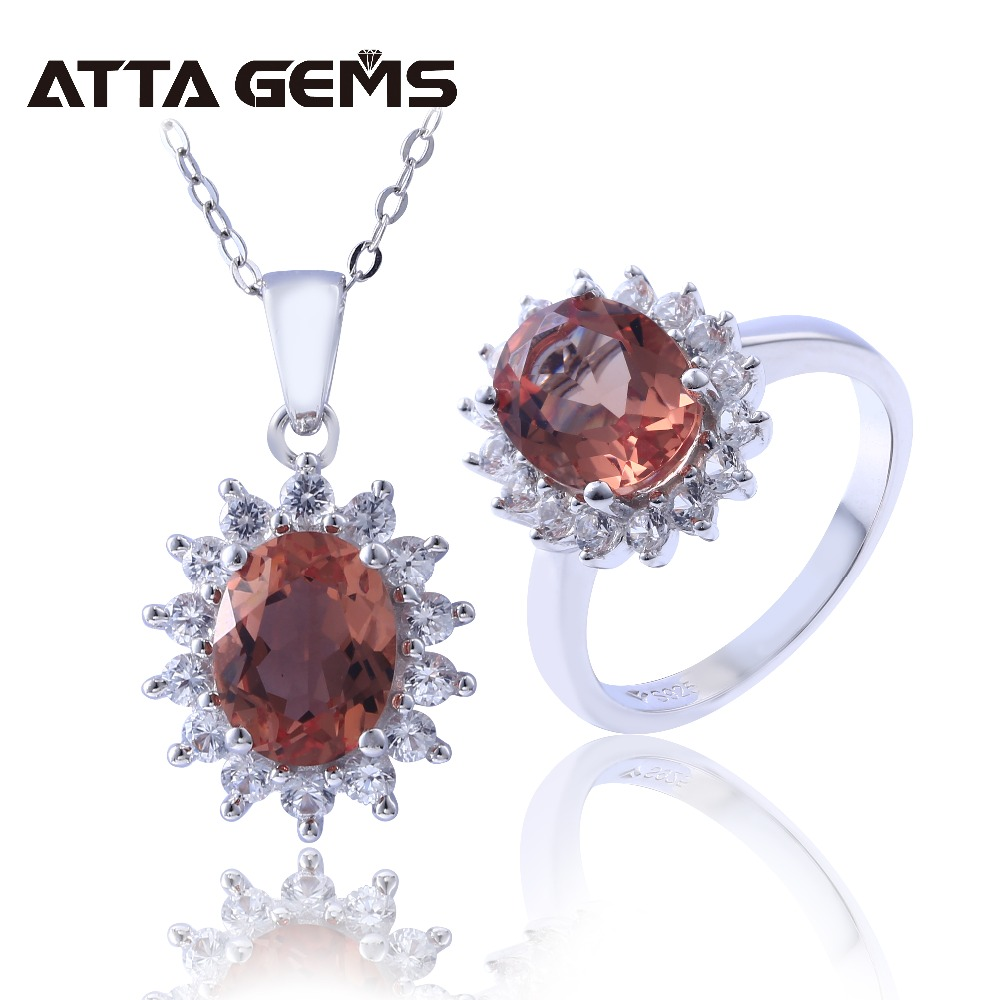Zultanite Sterling Silver Jewelry Sets 9 8 Carats Created Zultanite Special Stone Color Change Women s