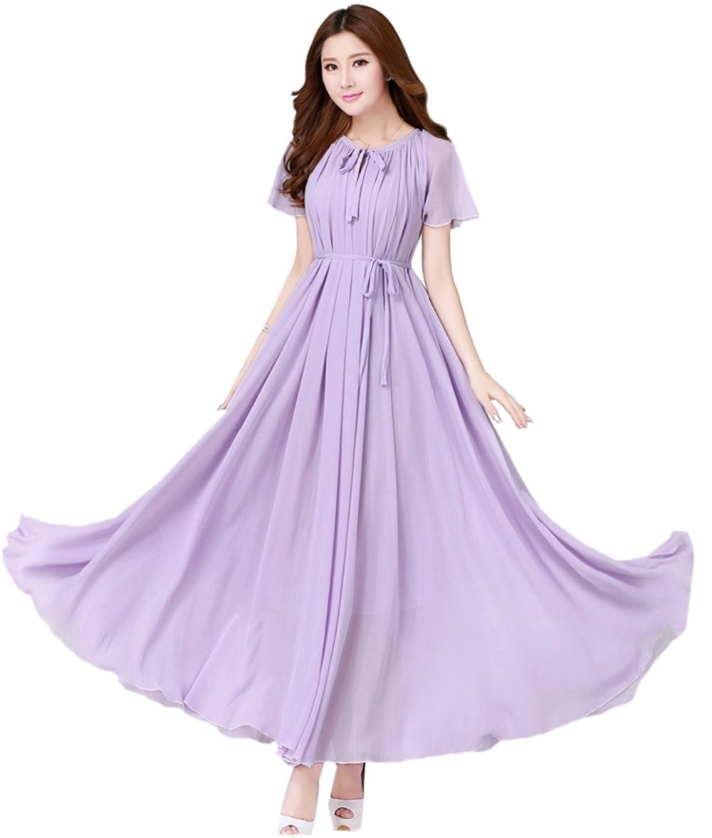 Lavender Maxi Dress Promotion-Shop for Promotional Lavender Maxi ...