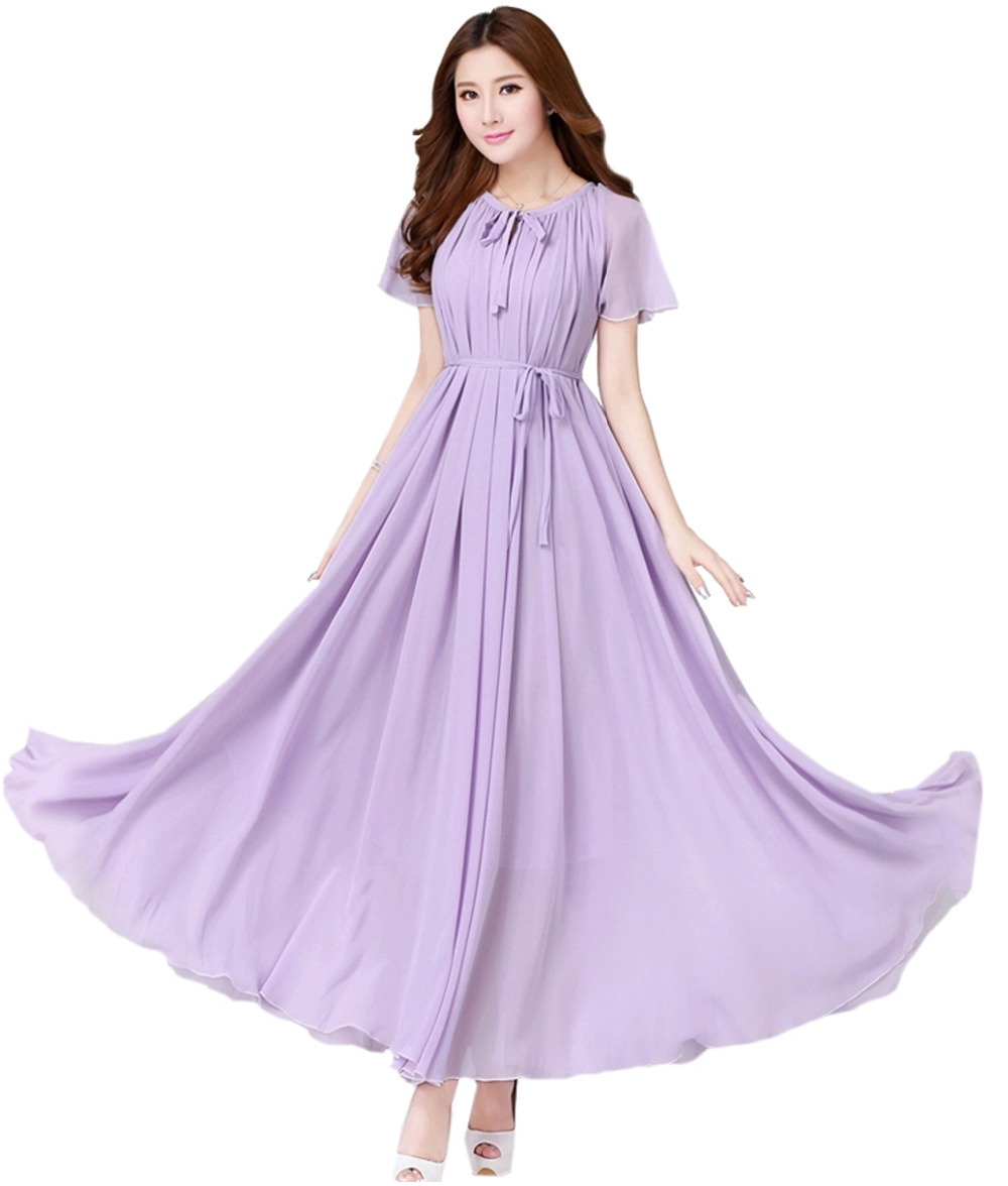 Online get cheap lavender bridesmaid dresses for a beach wedding womens lavender chiffon beachgarden wedding bridesmaid maxi dress comfortable holiday sundress plus sizes ombrellifo Gallery