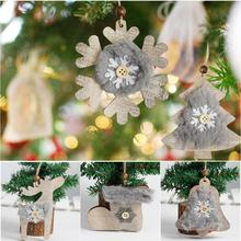 Christmas Tree Star Bell Hat Wooden Plush Hanging Decor Decoration Inventory clearance