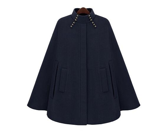 De Femmes Sections Veste Mode 2018 Cape Beau Manteau brown Longues Style Châle Navy Britannique Survêtement Automne Et Raffiné D'hiver Z5wqqxrEa
