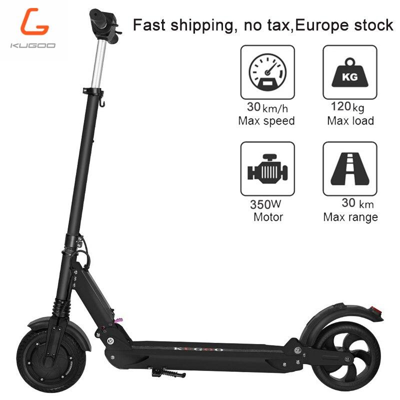 [Pologne stock] pas de taxe KUGOO S1 Scooter électrique adulte Scooter électrique 350 W pliant 3 Modes de vitesse 8 pouces IP54 30 KM 3-6day