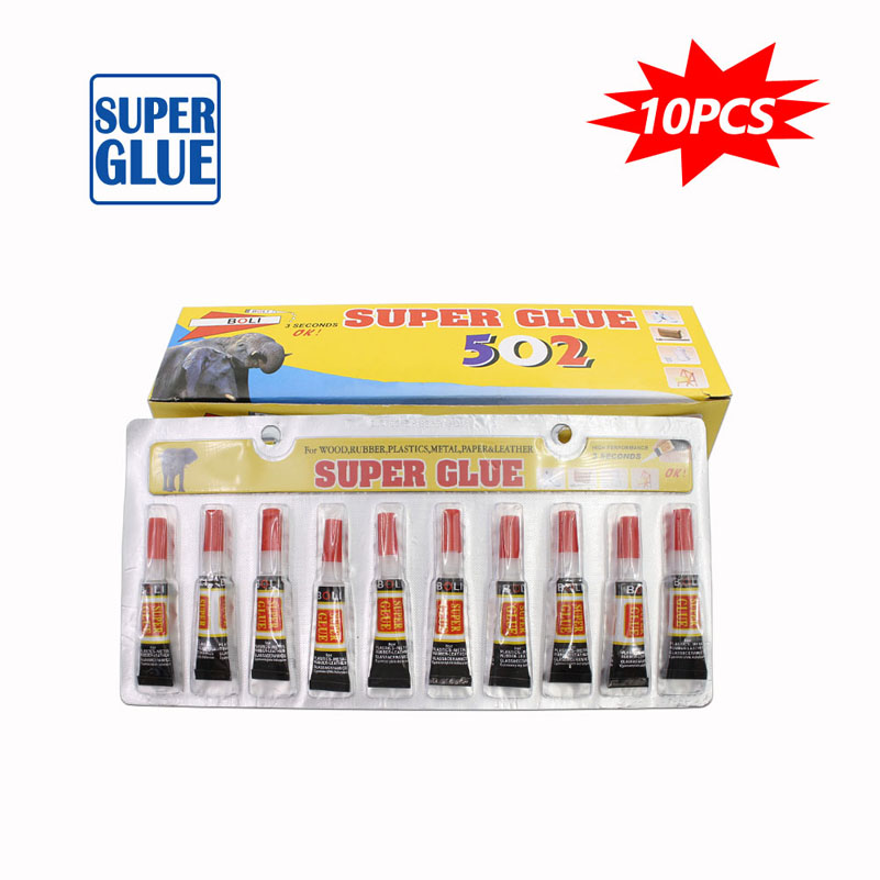 10Pcs Liquid Strong Super Glue Cyanoacrylate Leather Instant Adhesive Transparent Rubber Metal Glass Wood Epoxy Resin Touch Bond