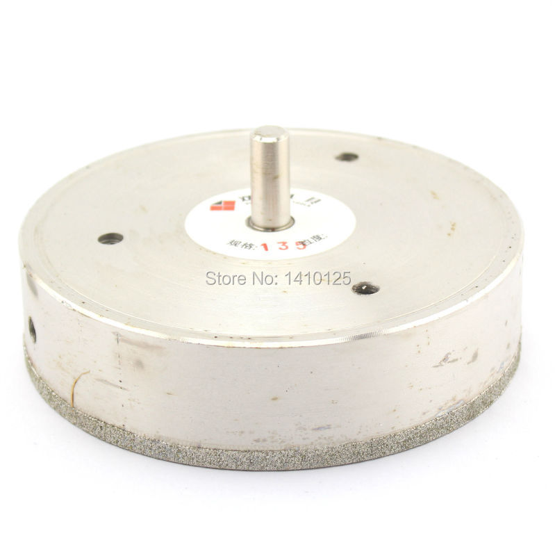 135 mm 5 3/8 inch Diamond Core Drill Bit Hole Saw Cutter Coated Masonry Drilling for Glass Tile Ceramic Stone Marble Granite 70mm diamond coated drill bit set kit hole saw holesaw glass granite tile cutter holer cutting tool for glass ceramic marble