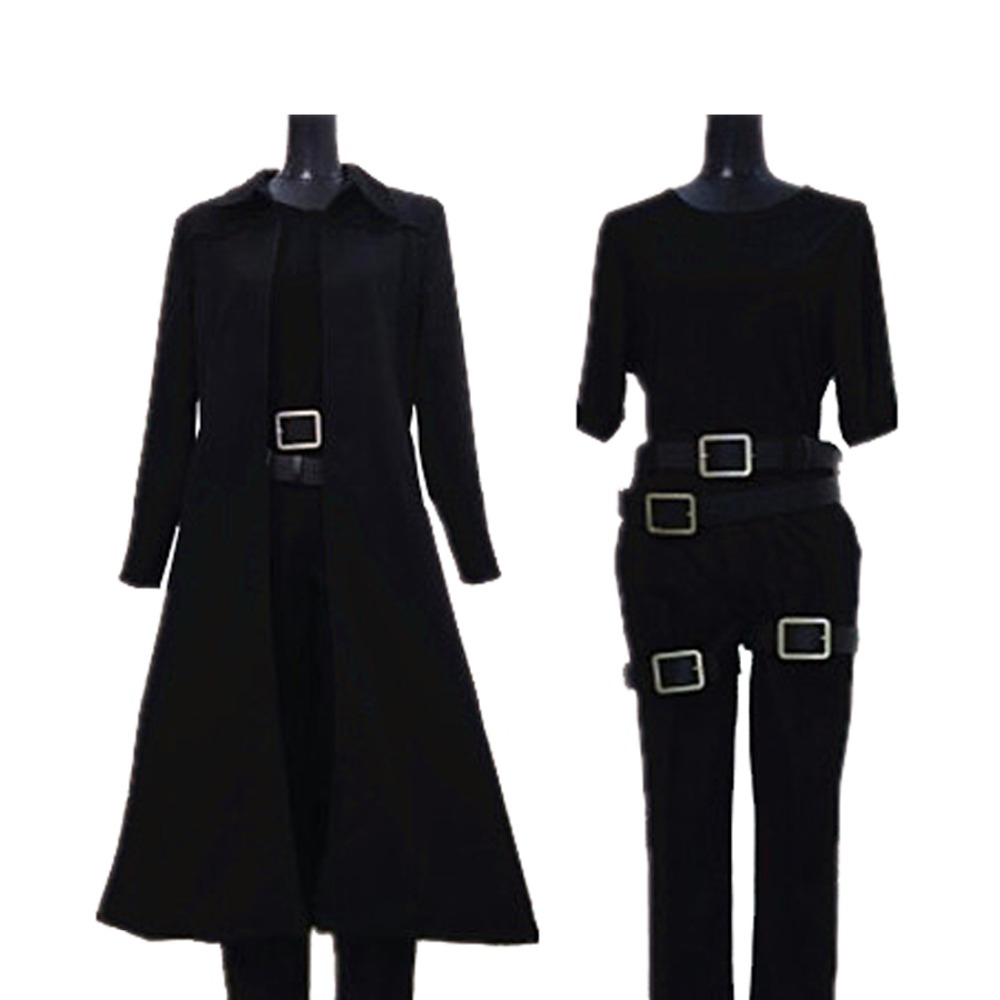 2017 Matrix Neo Cosplay Costume Black Trench Coat Full Set