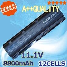 Bateria para HP 8800 MAH 12 Células Pavilion DV3 DV5 DV6 DV7 DM4 G4 G6 G7 para Compaq Presario Cq32 Cq42 G42 G62 Mu06 Hstnn-ub0w