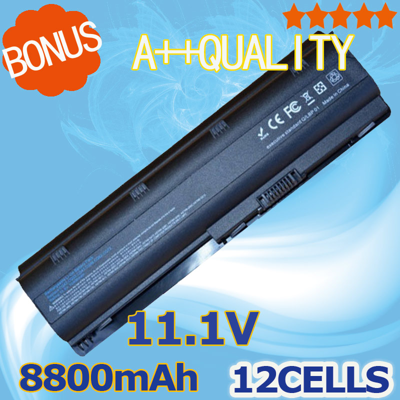 8800mAH 12 cells battery for HP pavilion dv3 dm4 dv5 dv6 dv7 g4 g6 g7 for Compaq Presario CQ42 CQ32 G42 G62 mu06 HSTNN-UB0W цена