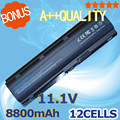 8800mAH  12 cells battery for  HP pavilion dv3 dm4 dv5 dv6 dv7 g4 g6 g7 for Compaq Presario CQ42 CQ32 G42 G62 mu06 HSTNN-UB0W