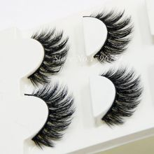 Hot 3D Mink False Eyelashes 1 Box 3 Pairs Natural Crisscross Realistic Messy Soft Fake Eyelashes Makeup Lashes
