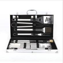 6pcs Stainless Steel BBQ Tool Set BBQ Grill Tong Cleaning brush Shovel Fork Oil brush and BBQ knife Outdoor Barbecue Accessories