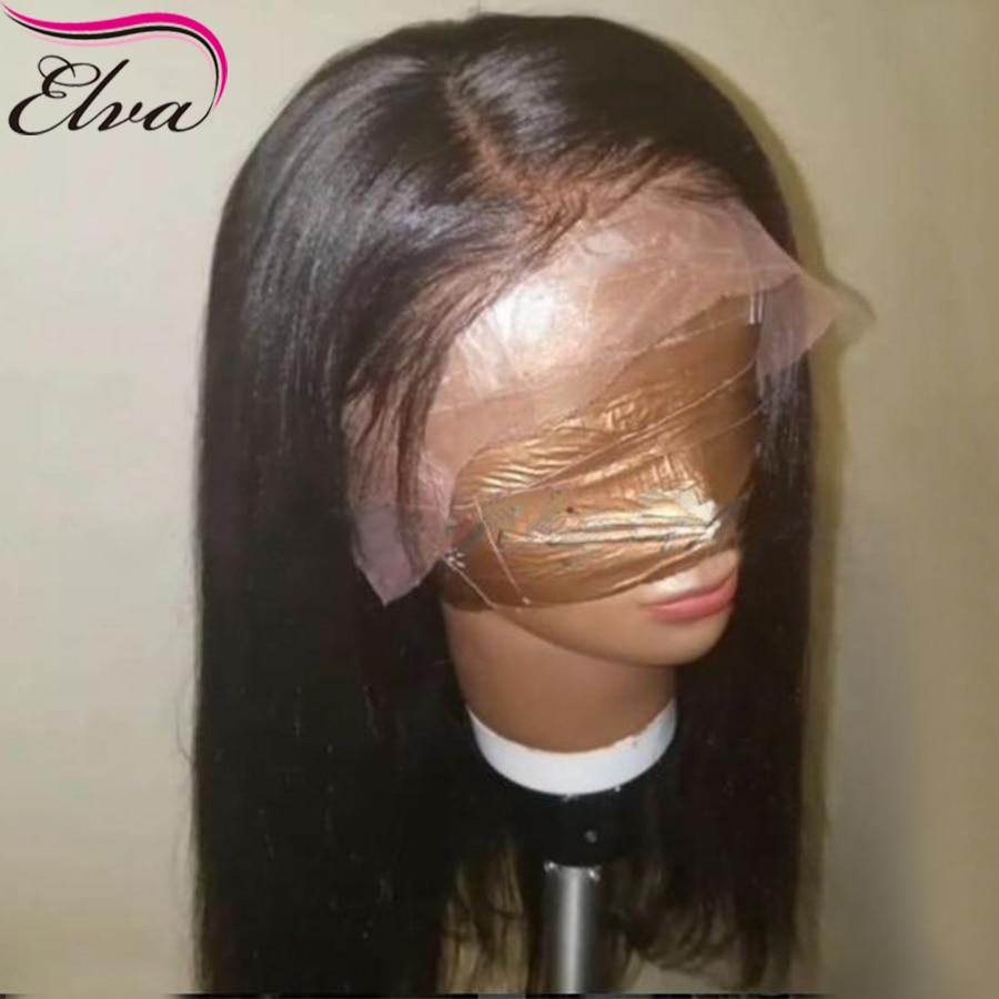 Яки прямо Синтетические волосы на кружеве Человеческие волосы Искусственные парики с ребенком волос 150% плотность бразильский 13x6 Синтетиче...