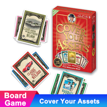 Family Adult Board Game Cover Your Assets Playing Cards Compatible Get Together Table Card Child Gift
