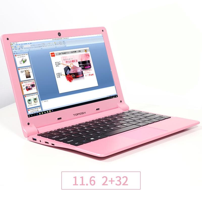 TOPOSH laptop (P5) 11.6 inch  Intel quad-core Processor Intel Z8350 RAM 2GB 32GB Expandable SSD Ultralight  notebook laptop