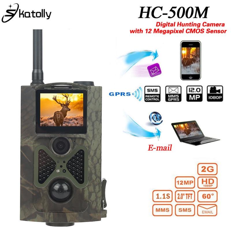 Skatolly  HC500M Hunting Trail Camera  2G HD 12MP 1080P Video Night Vision MMS GPRS Scouting Infrared Game Hunter Cam skatolly hc300m hunting trail camera hc 300m full hd 12mp 1080p video night vision mms gprs scouting infrared game hunter cam