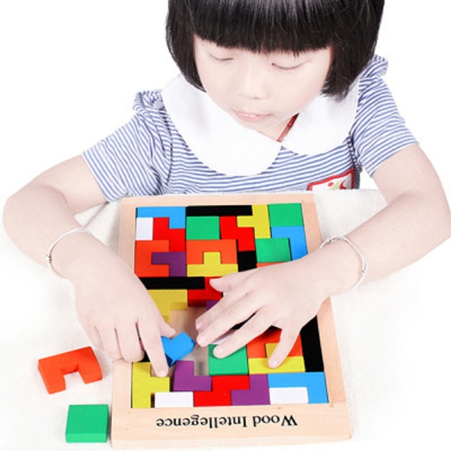 New Kids Baby Wooden Geometry Puzzle Montessori Early Learning Educational Toy Best Gift For Children Free shipping