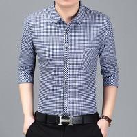 High Quality Men Dress Shirt Long Sleeve Spring Autumn Male Shirt Styles Social Slim Fit Shirt