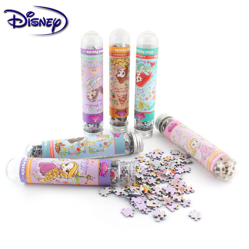 Disney 150 Piece Test Tube Jigsaw Pocket Mini Puzzles Creative Birthday Gift Adult Children Leisure Travel Puzzle Toys