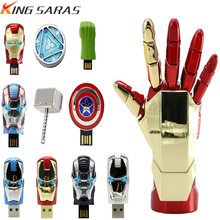Hot Pendrive 32GB USB 2.0 Memory Stick Super Hero Usb Flash Drive Metal Cartoon Pen 4GB 8GB 16GB 64GB 128GB Free Shipping