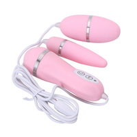 Wired Double Vibrating Eggs Vibrator Massager Vaginal Anal Masturbation Sex Toys