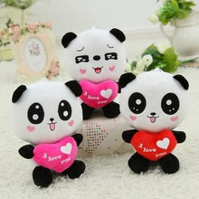 2015 cute little panda doll plush toy doll doll holds the heart of Valentine's day birthday creative gift