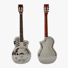 Aiersi Brand Cutway Bell Brass Electric Dobro Parlor Resonator Guitar with free Case and strap