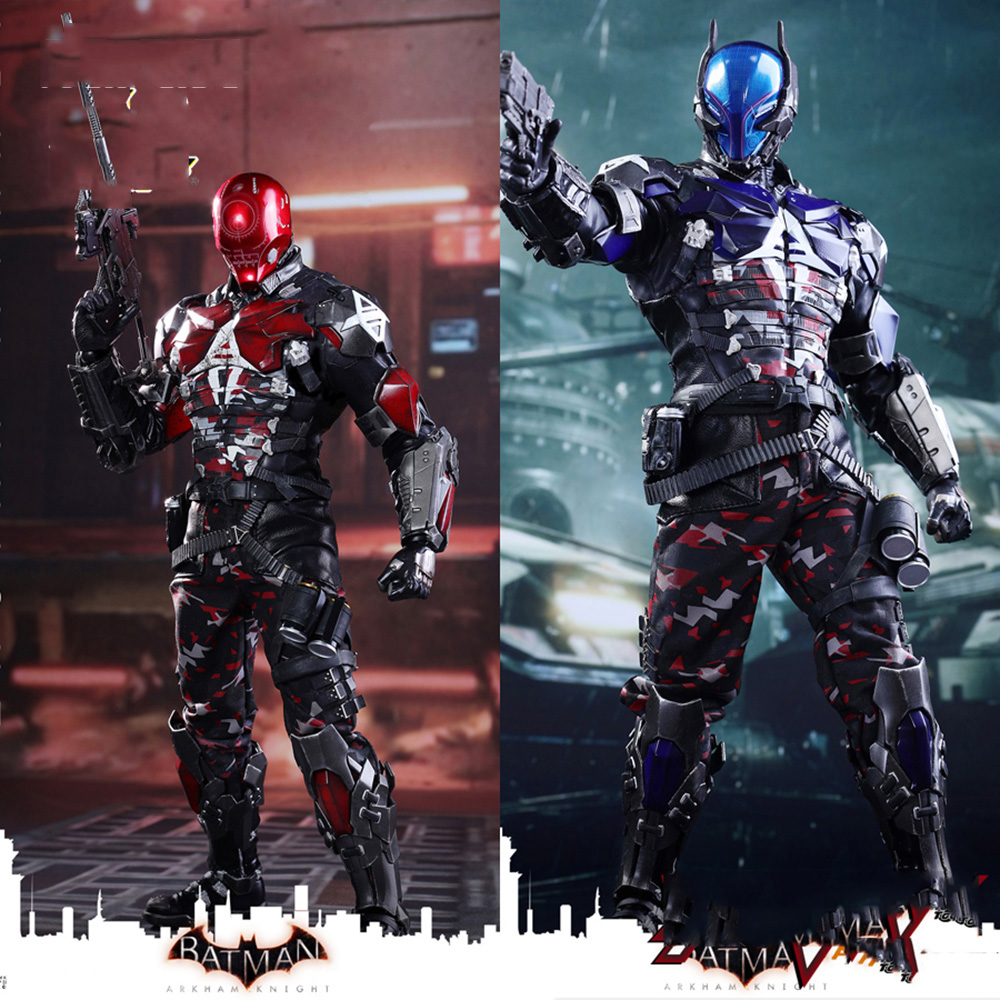 Hot Toys Blue&Red Hood Arkham Knight Batman Series 1/6 Collectible Full Set Action Figure VGM28 Model Toys for Fans Holiday Gift худи print bar red hood arkham knight edition