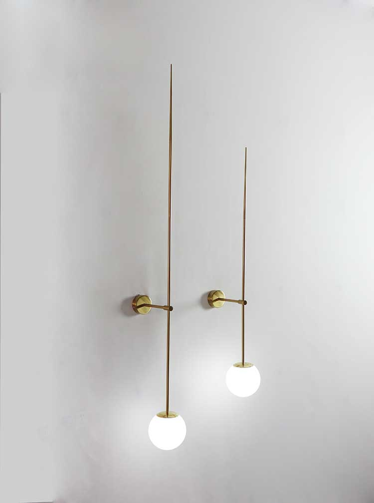 Nordic Glass Ball Wall Sconce Light Fixture