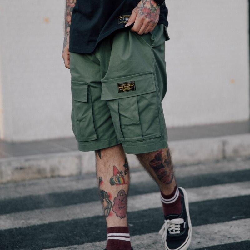 Mens Shorts 2018 Summer Casual Loose Short Pants Side Pockets Male Cargo Camo Hip Hop Shorts W0041
