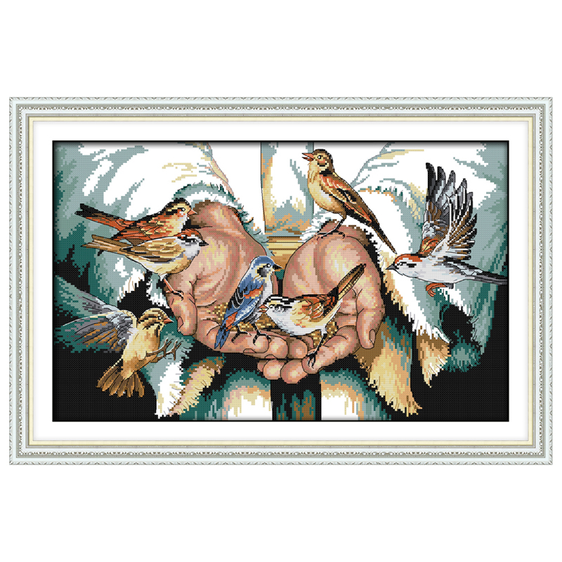 With Love In The Hands Patterns Counted Cross Stitch 11 14CT Cross Stitch Sets Wholesale Cross-stitch Kits Embroidery Needlework
