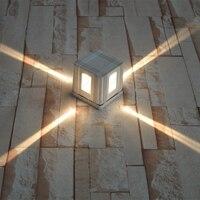 กลางแจ้ง/ในร่มที่มีคุณภาพสูงโคมไฟ4วัตต์นำผนังเชิงเทียนแสงขึ้น/ลงติดผนังพื้นดิน