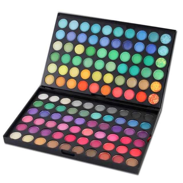 120 Cores Da Moda Eyeshadow Palette Shimmer Matte Eye Make Up Ferramenta Maquiagem Nude Sombra de Olho Paletas Set Profissional 2 Camadas