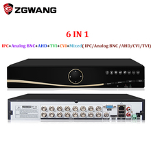 ZGWANG 6 IN 1 Hybrid 4CH 8CH 16CH Video Recoreder AHD CVI TVI IPC 5MP 1080P NVR DVR For Analog AHD Camera IP Camera hybrid 5 in 1 16ch ahd dvr recorder 1080p dvr 16 channel 2 sata hdd 1920 1080 cctv cvi tvi dvr 16ch hybrid dvr recorder system