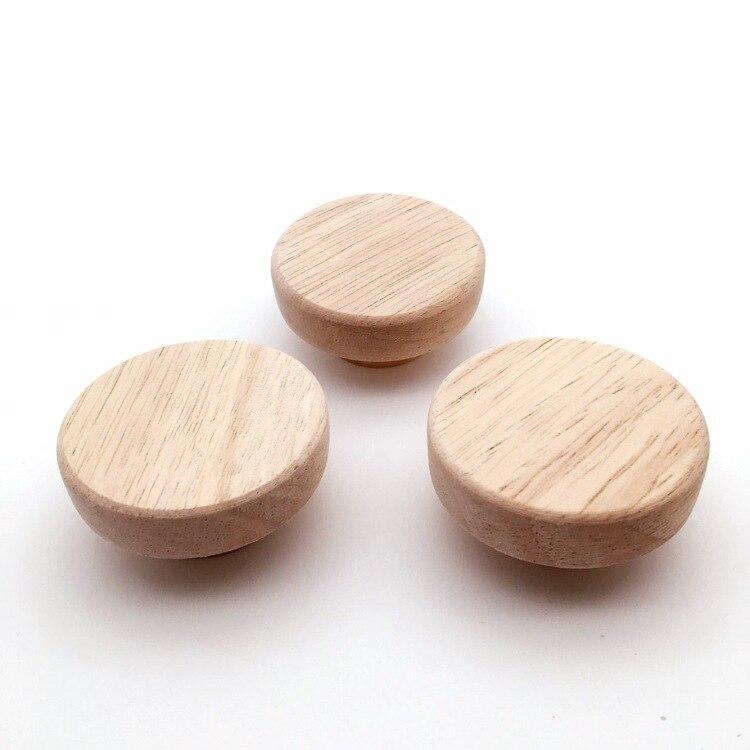 10x acessório para casa 50x25mm botão de madeira puxadores redondos de madeira para armário gaveta caixa de sapato armário porta do armário