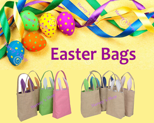 New 50pcslot wholesale easter gifts bag cute rabbit ears for kids new 50pcslot wholesale easter gifts bag cute rabbit ears for kids gift jute cloth negle Images