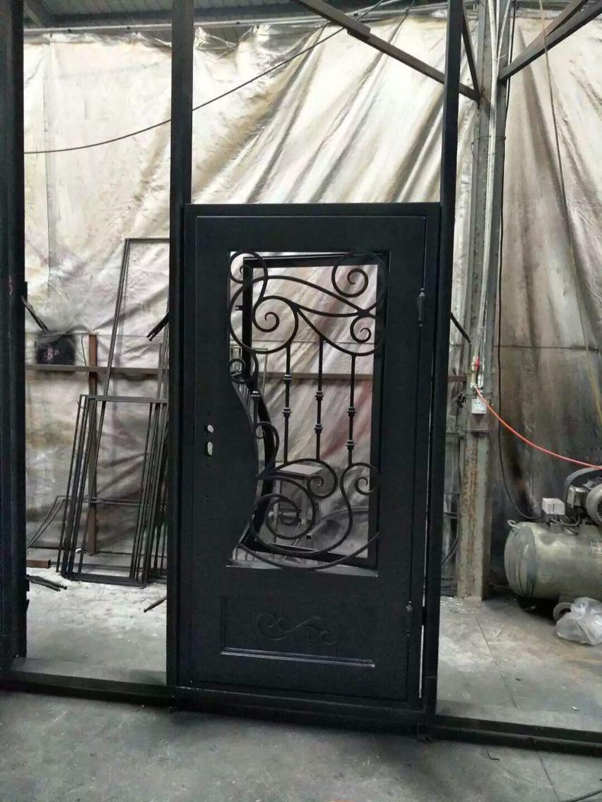Hecho a mano de encargo dise o de hierro forjado puertas - Colgadores de hierro forjado ...
