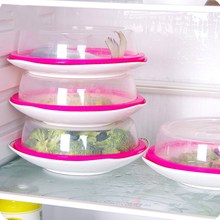 Urijk Plastic Sealing Cover Stacked Freezer Fresh Lid Crisper Food Cover Microwave Oven Oil Cap Lids Refrigerator Fresh Cover
