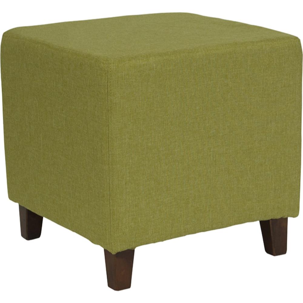 все цены на Ascalon Upholstered Ottoman Pouf in Green Fabric онлайн